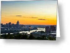 Cincinnati Sunrise II Greeting Card by Keith Allen