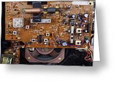 Circuit Board In A Portable Radio Greeting Card by Andrew Lambert Photography