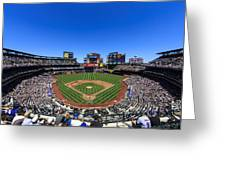 Citifield Greeting Card by Rick Berk