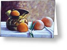 Citrus And Copper Greeting Card by Sonsoles Shack