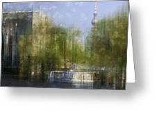 City-Art BERLIN River Spree Greeting Card by Melanie Viola