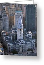 City Hall Broad St And Market St Philadelphia Pennsylvania 19107 Greeting Card by Duncan Pearson