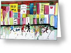City Love Greeting Card by Mindy Newman