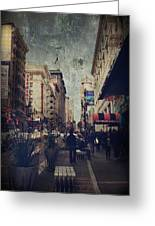 City Sidewalks Greeting Card by Laurie Search