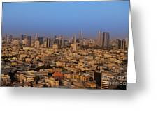 City Skyline Greeting Card by Noam Armonn