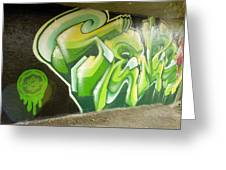 City Sponsored And Approved Graffiti Greeting Card by Bill Hatcher