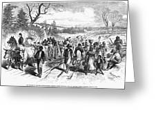 Civil War: Freedmen, 1863 Greeting Card by Granger