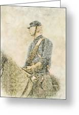 Civil War Union Cavalry Trooper Greeting Card by Randy Steele