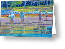 Clam Diggers Greeting Card by Rae  Smith  PSC