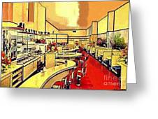 Clark's Coffee Tavern In Seattle Wa In The 1940's Greeting Card by Dwight Goss