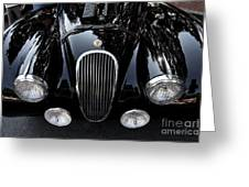 Classic Black Jaguar . 40d9322 Greeting Card by Wingsdomain Art and Photography
