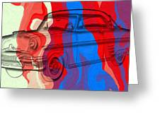 Classic Mercury Abstract Greeting Card by David G Paul