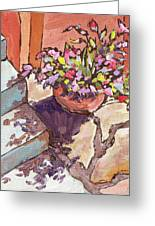 Clay Pot Greeting Card by Sandy Tracey