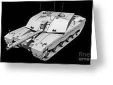 Clay Render Of A Challenger II Tank Greeting Card by Rhys Taylor