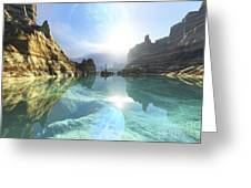 Clear Canyon River Waters Reflect Greeting Card by Corey Ford