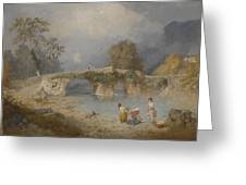 Clearing Up For Fine Weather Beddgelert North Wales 1867 Greeting Card by James Baker Pyne