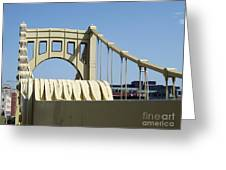 Clemente Bridge Greeting Card by Chad Thompson