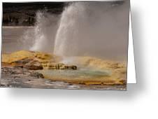 Clepsydra Geyser Yellowstone National Park Greeting Card by Bruce Gourley