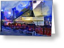 Cleveland Rocks Greeting Card by Anthony Caruso