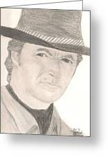 Clint Eastwood Greeting Card by Art of the Maverick