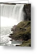 Close To The Falls Greeting Card by Amanda Barcon