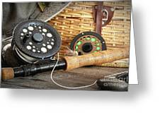 Close-up Fly Fishing Rod  Greeting Card by Sandra Cunningham