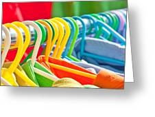 Clothes Hanging Greeting Card by Tom Gowanlock