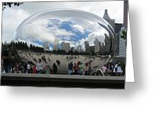 Cloud-gate-one Greeting Card by Todd Sherlock