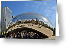 Cloud Gate - The Bean - Millennium Park Chicago Greeting Card by Christine Till