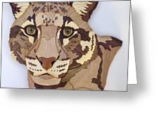 Clouded Leopard Greeting Card by Annja Starrett