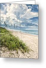 Clouds Over The Ocean Greeting Card by Cheryl Davis