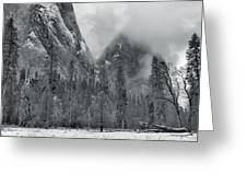Clouds Over Yosemite Valley Greeting Card by Stephen  Vecchiotti