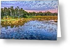 Clouds Underwater Greeting Card by Debra and Dave Vanderlaan