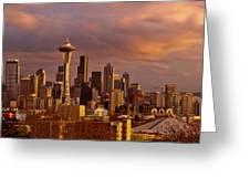 Cloudscrapers Greeting Card by Dan Mihai
