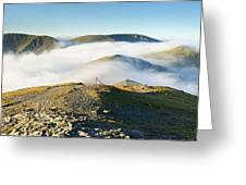 Cloudsurfing Grisedale Pike Greeting Card by Stewart Smith