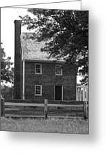 Clover Hill Tavern Guesthouse Bw Greeting Card by Teresa Mucha