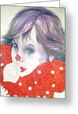 Clown Baby Greeting Card by Unique Consignment