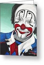 Clown - Billy Ballantine Greeting Card by Patty Vicknair