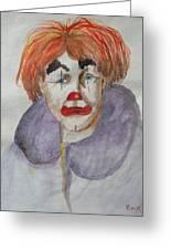 Clown School Greeting Card by Betty Pimm
