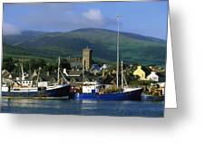Co Kerry, Dingle Harbour Greeting Card by The Irish Image Collection