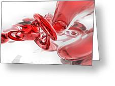 Coagulation Abstract Greeting Card by Alexander Butler