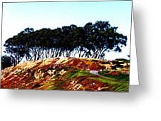 Coastal Cliff Greeting Card by Tim Tanis