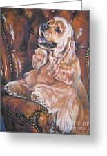 Cocker Spaniel On Chair Greeting Card by L A Shepard