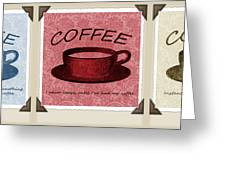 Coffee Flowers Scrapbook Triptych 1 Greeting Card by Angelina Vick