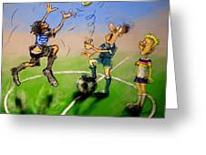 Coin Toss Greeting Card by Ylli Haruni