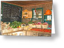 Colby Farm Stand Produce Greeting Card by Kristine Patti