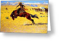 Cold Morning On The Range Greeting Card by Pg Reproductions