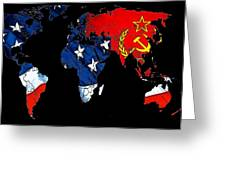 Cold War Map Greeting Card by Stefan Kuhn