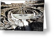 Coliseum  - Bleached Version Greeting Card by Gregory Dyer
