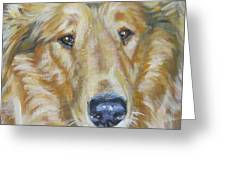 Collie Close Up Greeting Card by Lee Ann Shepard